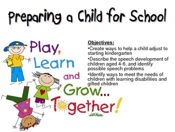 Preparing a Child for School Powerpoint for FCS Child Development