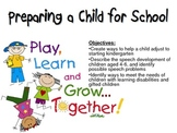 Preparing a Child for School Powerpoint for FCS Child Development