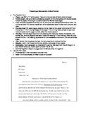 Preparing a Manuscript in MLA Format