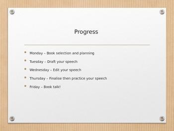 Preparing a book talk - Elementary