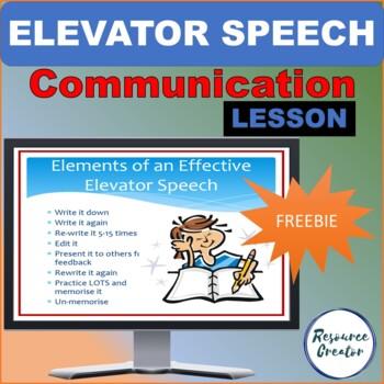 Preparing an Elevator Speech