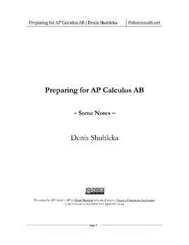 Preparing for AP Calculus AB