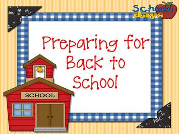 Preparing for Back to School