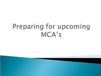 Preparing for MCA's or other standardized tests and poster
