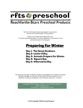 Preparing for Winter {5-day Thematic Unit}
