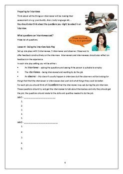 Preparing for a Job Interview: Role Play Activity