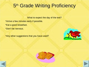 Preparing for a State Writing Profiency Test