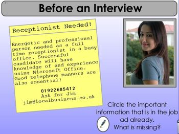 Preparing for an Interview (Employability)