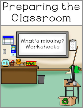 Preparing the Classroom Worksheets and File Folder Match