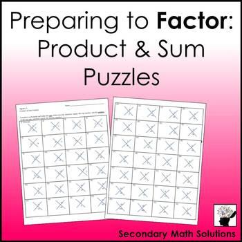Factoring Trinomials Preparation