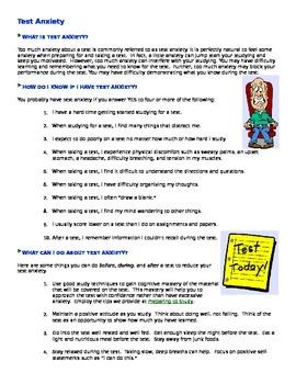 Preparing to Study / Test Anxiety / M/C Test Success