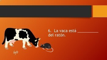 FREE Spanish Prepositions PowerPoint, Town & City Giving Directions