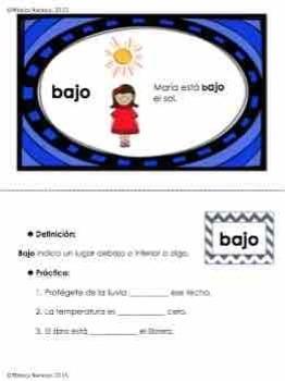 Preposiciones en Español. Spanish Prepositions.