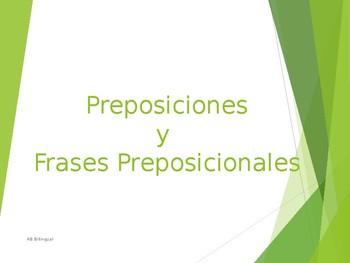 Preposiciones y Frase Preposicional