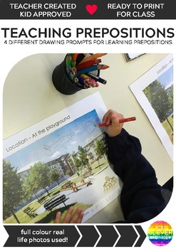 Preposition - 4 Drawing Templates for Developing Spatial Language