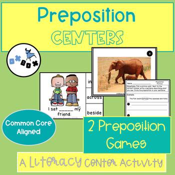 Preposition Activity Center: ELA Centers or Games