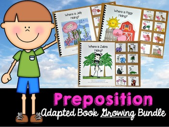 Preposition Adapted Books Growing Bundle