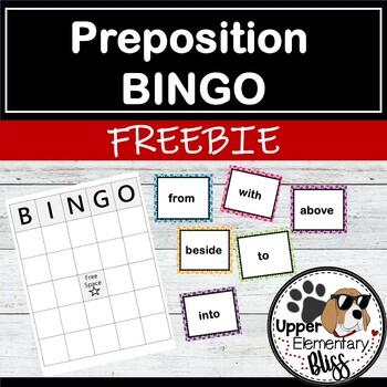 Preposition BINGO Freebie