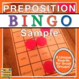 Preposition Bingo Sampler