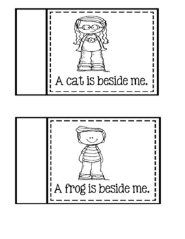 "Preposition Word ""Beside"" ~ Cut And Paste Book"