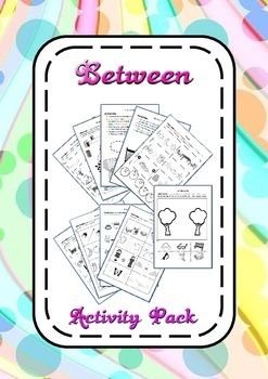Preposition Between Learning Activity Pack