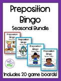 Seasonal Bundle of Preposition Bingo