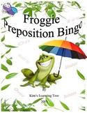 Preposition Bingo-Showing Location Froggie Bingo & Froggie