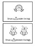Preposition Bug Book - Read And Draw
