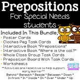Prepositions - Hands-On Materials And Interactive Books!
