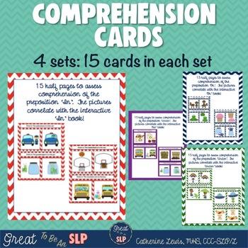 Preposition Bundle: 4 Interactive Books/Comprehension Card Sets