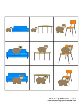 Preposition Card Game (any language) - Spanish /s/ Articul