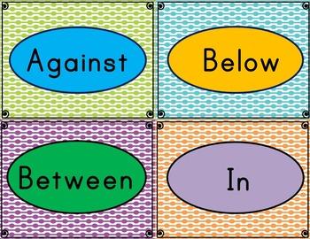 Preposition Cards