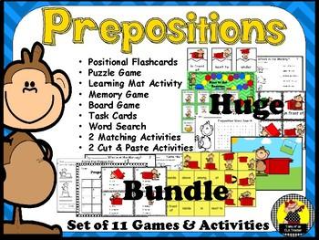 Preposition Center Activities ~ Huge Bundle