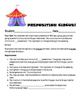 Preposition Circus Act!