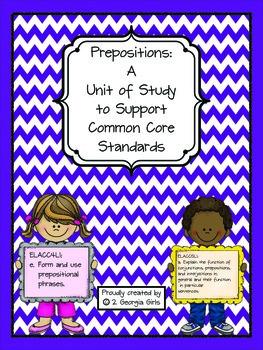 Preposition Common Core Aligned Complete Unit of Study
