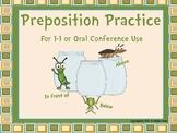 Grade 1 Ontario Preposition Conferences and Practice Sheets