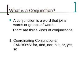 Preposition, Conjunction, Interjection Power Point Presentation