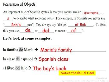 Preposition DE (Possession, Ownership): Spanish Quick Lesson