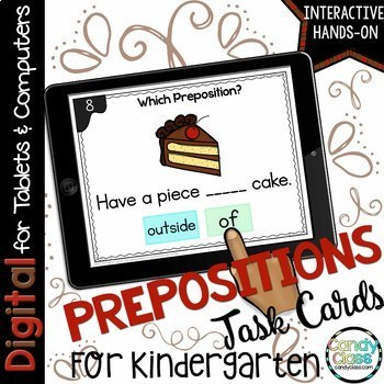 Preposition Digital Task Cards - Paperless for Google Slides Use