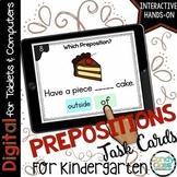 Preposition Activity: Grammar Task Cards for Kindergarten Google Classroom Use