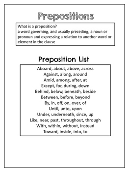Preposition Drawings