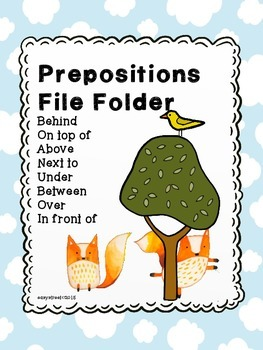 Preposition File Folder for special education or speech