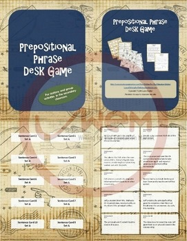 Preposition Game for Secondary Students