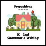 Preposition Grammar Writing Speech Therapy Summer Printable ELA