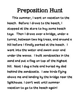 Preposition Hunt