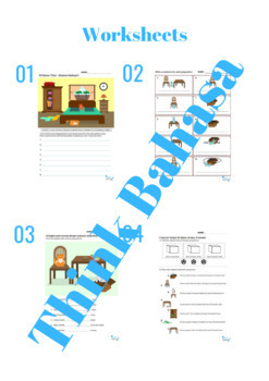 Preposition Indonesian Class NO PREP Packet (Poster, Flash Cards, Worksheets)
