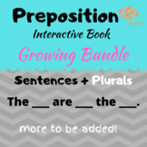 Preposition Interactive Book Growing Bundle, Sentence Form