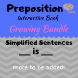 Preposition Interactive Book Growing Bundle, Simplified Se