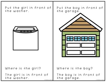 Preposition Interactive Books In Front