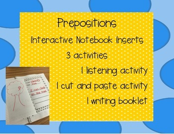 Preposition Interactive Notebook Inserts